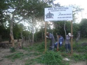 Señalización enlugares reforestados (km9, 10, 12 La Guardia).