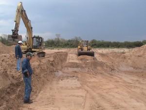 Trabajos de reencauzamiento del río Piraí - La Guardia.