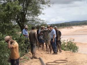 Inicio de trabajos de emergencia 2008 - La Guardia km12 Nueva Esperanza.
