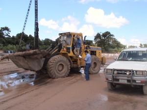 Construcción de espigones 2008 - La Guardia km12 al km15.