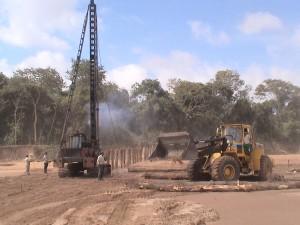 Construcción de espigones 2008 - La Guardia km12 al km15