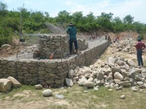 Construcción de gaviones 2010 - El Torno.